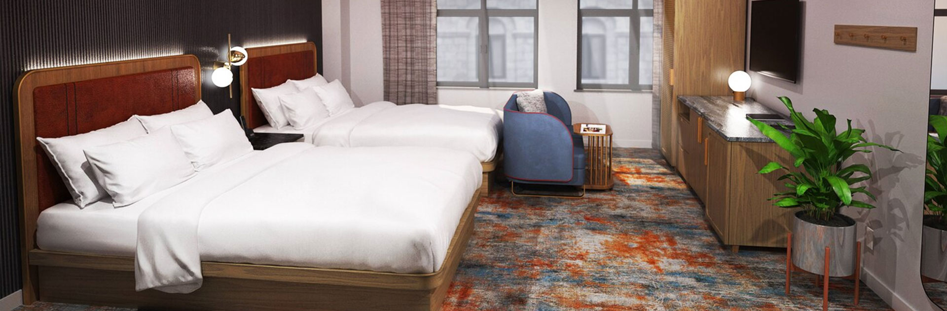 The industrialist hotel pittsburgh pennsylvania, Rooms